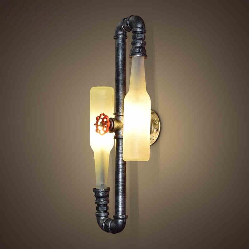 Mode Vintage Rustikalen Wandlampen Bierflasche Wandleuchte Led Licht für Bar Schlafzimmer Flur Balkon Decor G9 Led lampe Hause beleuchtung