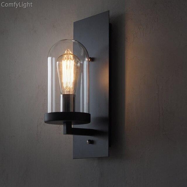 Loft Glas Wand Lampe Vintage indoor wand licht glas schlafzimmer ...