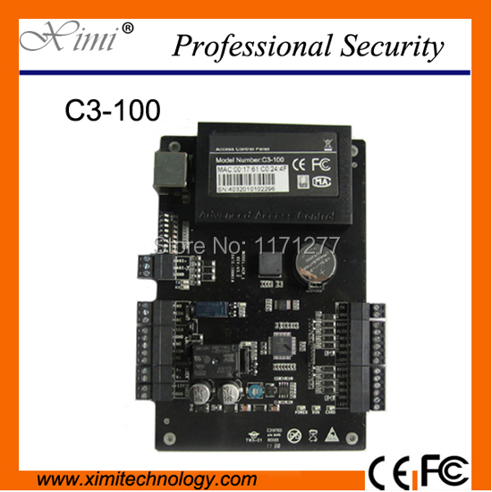 ZK C3-100 Access control panel door access controllers built-in features rs485 & tcp/ip with net work One-door two-way wg tcp ip rs485 one door two way rfid access control panel c3 100 access control security system