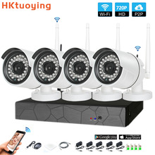 4CH 1080P HD Wireless NVR Kit P2P 720P Indoor Outdoor IR Night Vision Security 1.0MP IP Camera WIFI CCTV System цена 2017