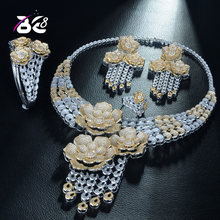 Be 8 Уникальный Блестящий Свадебный комплект ювелирных изделий