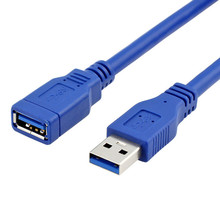 USB3.0 Male to Female extension data cable blue color