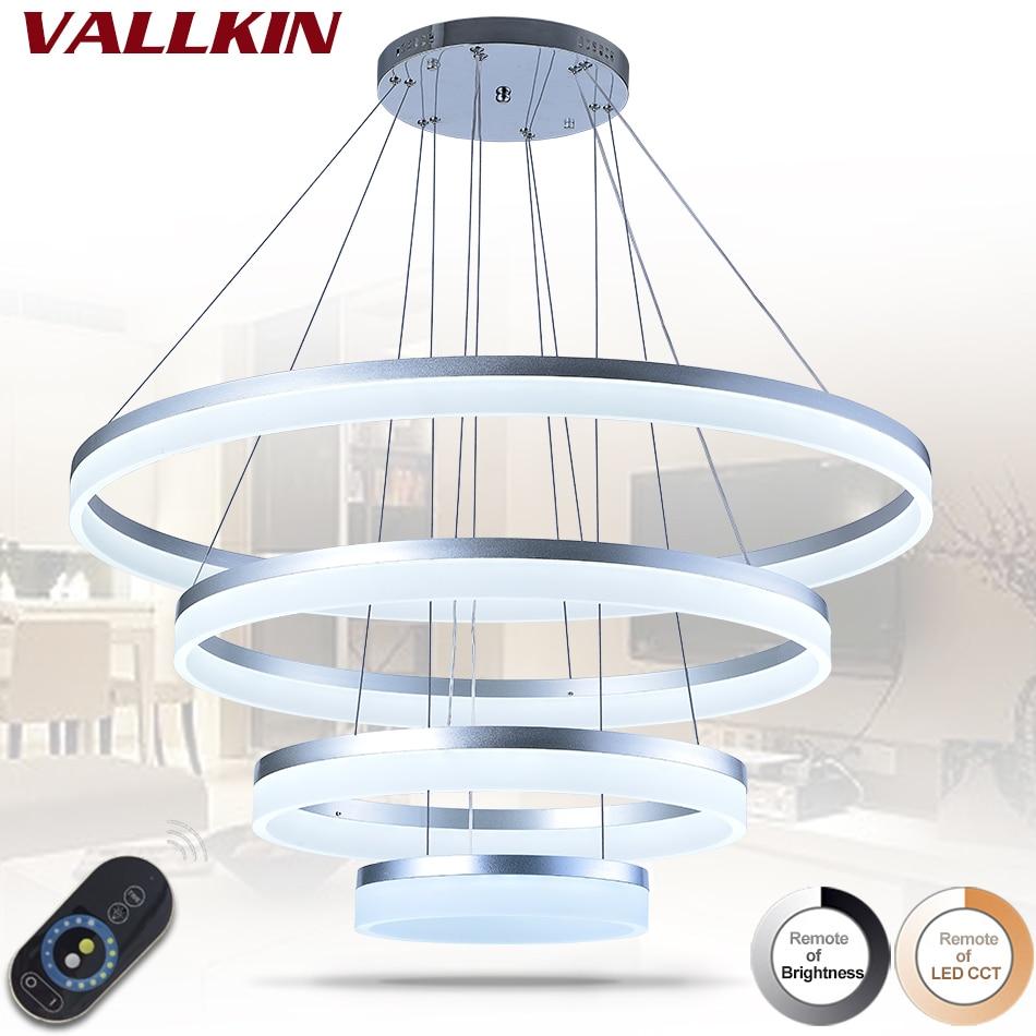 Dimmalbe Modern LED Pendant Lights For Living Room Hanging Circel Rings Acrylic suspension luminaire Pendant Lighting Lamps цена и фото