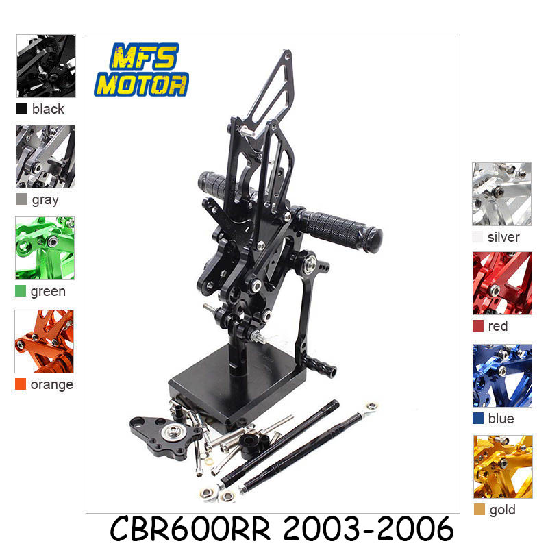 For Honda CBR600RR CBR600 Motorcycle Foot Pegs CNC Adjustable Rearset Foot RestS CBR 600RR 600 FootRests FootPegs PedalFor Honda CBR600RR CBR600 Motorcycle Foot Pegs CNC Adjustable Rearset Foot RestS CBR 600RR 600 FootRests FootPegs Pedal