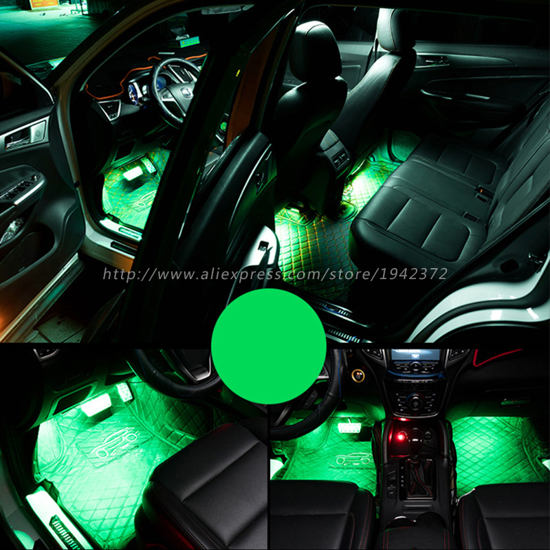 Image 4 - RGB 5050 SMD Flexible LED Strip Interior Decoration Light with Remote Control DC12V-in Decorative Lamp from Automobiles & Motorcycles