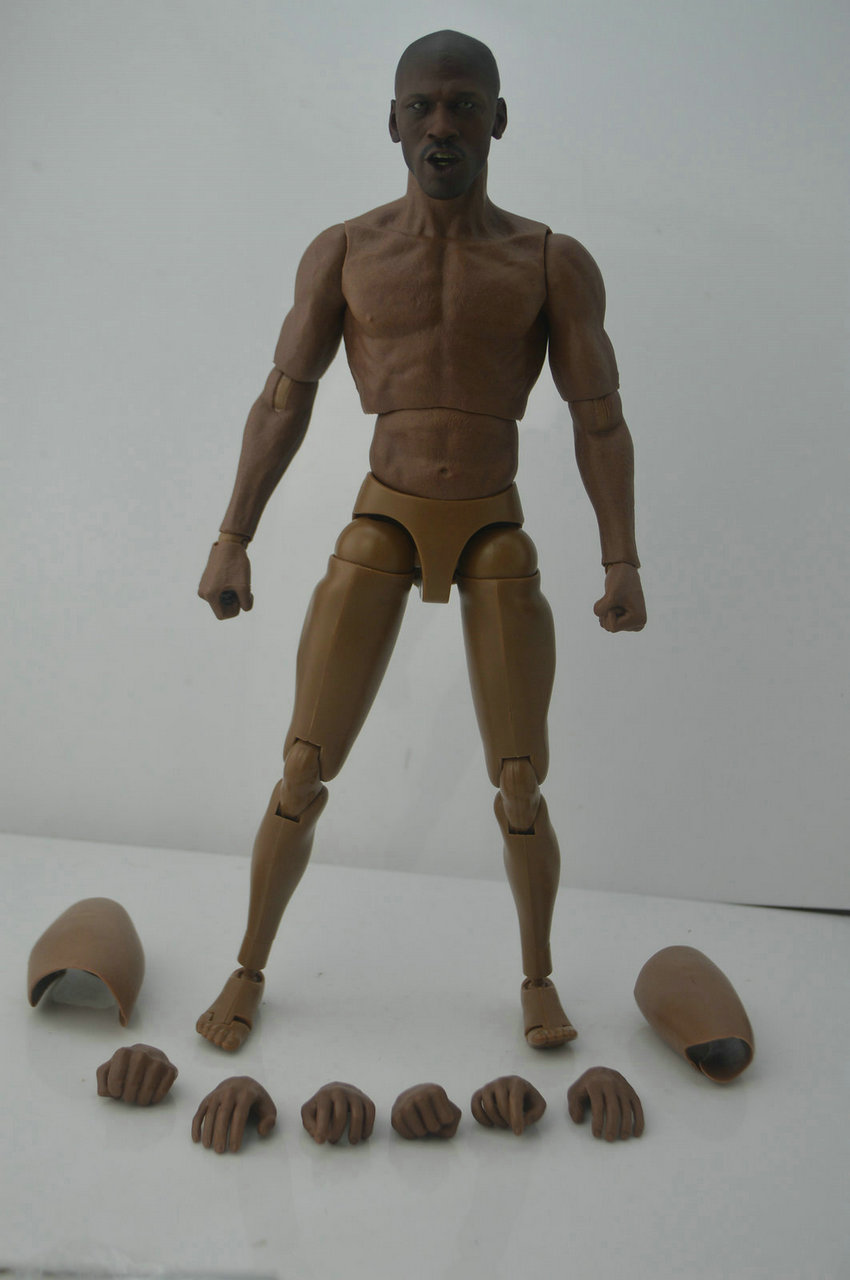 Zc toys 1//6 NBA Michael Jordan Black Head WITH Carved W Body Figure Models