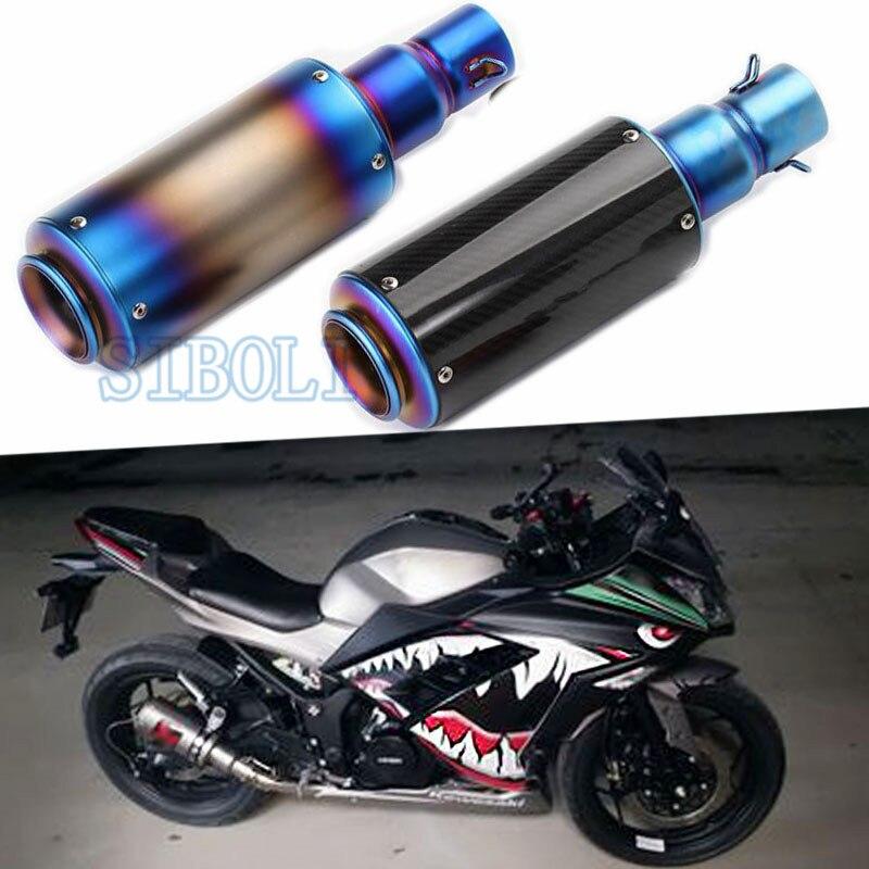 Exhaust Motorcycle Muffler Silencer Carbon Fiber Escape With DB Killer For Honda CBR1000RR YAMAHA YZF R1 R6 TMAX530 FZ6 AK103