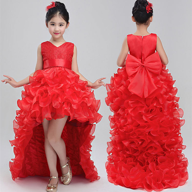 2018 Summer kids girl party dress girl trailing Dress ball gown baby dress with bow-knot Girls clothing Wedding Princess Dresses 1m 1 8m 3m e sata esata male to male extension data transfer cable cord for portable hard drive 3ft 6ft 10ft