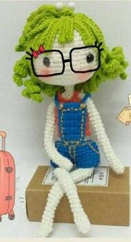 crochet toys  amigurumi  rattle  fashion   girl   number  wp031