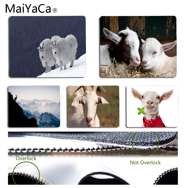 MaiYaCa Goat Customized MousePads Computer Laptop Anime Mouse Mat Size for 25x29CM Speed Version Gaming Mousepads