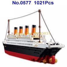Sluban 0577 1021 шт Титаник корабль лодка строительный блок игрушка