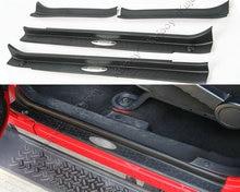4 шт. Черный ABS автомобиль порога Накладка защитная накладка для Jeep Wrangler 4 Дверные рамы 2007-2017 стайлинга автомобилей
