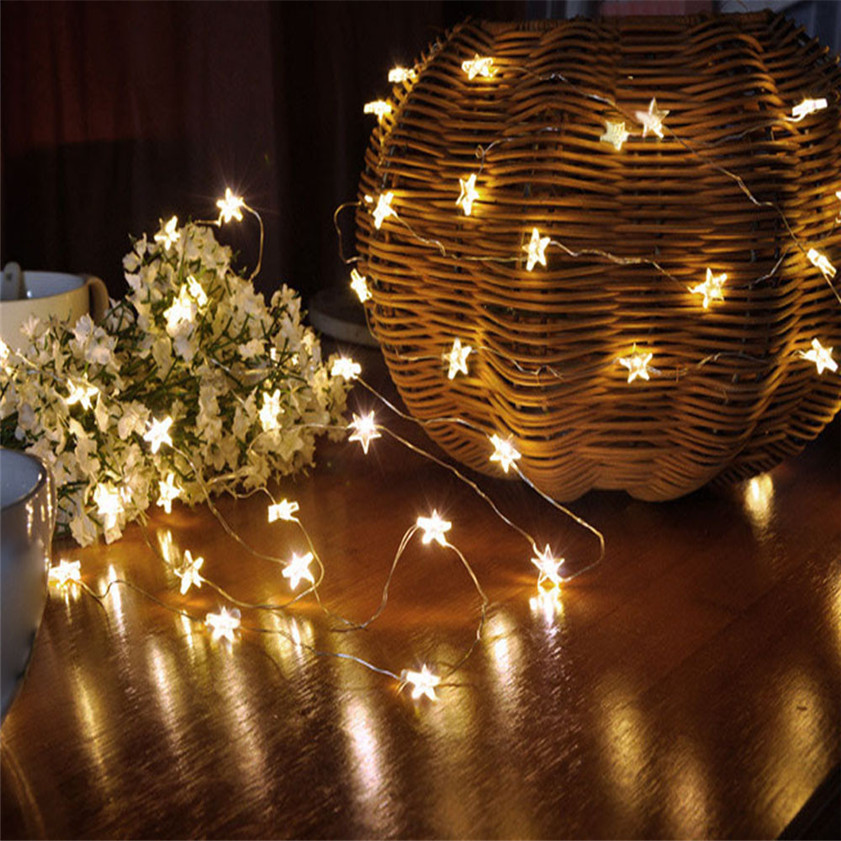 10 LED Star Light Cozy String Fairy Lights For Bedroom Xmas Wedding Party