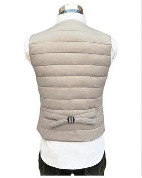 NewBang Brand 7XL 8XL Lager Size Men's Suit Vest Warm Liner Ultra Light Down Vest Men Portable V-neck Sleeveless Without Collar