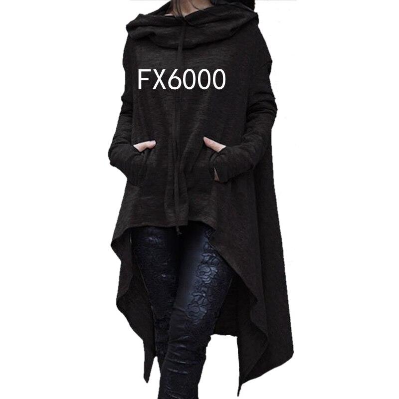 2018 di Nuovo Modo di Magliette e camicette Felpe Femmes Kawaii Modello Harajuku Tasche Cotone Comodo Più Il Formato