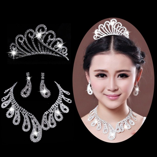 Un Noble Novia de La Boda Accesorios Nupciales noiva párr coroa Corona de La Tiara de Wholesale Online Store
