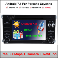 Android 7 1 Quad Core 7 Inch Car DVD Player For Porsche Cayenne 2003 2004 2005