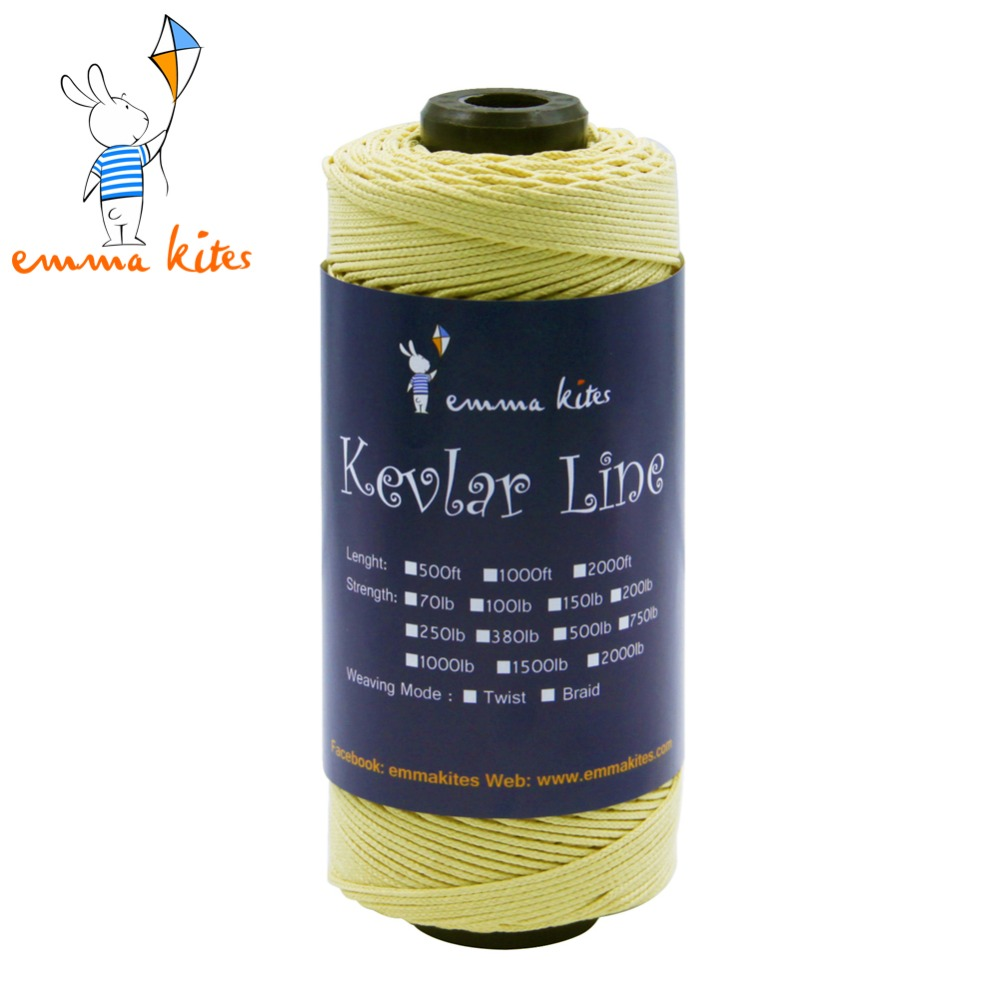 500ft 152m 500lb Strong Kevlar Line String 1 5mm Braided Kite Line Outdoor Cord For Fishing