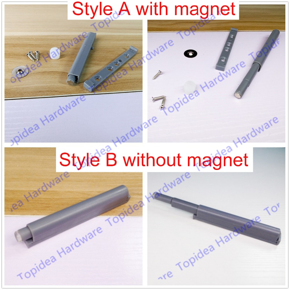 New Push To Open System Damper Buffer For Cabinet Door Cupboard Catch With Magnet