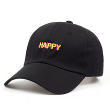 2018 new SLOUCH HAPPY TEXT LOGO dad hat ADJUSTABLE CURVED BILL DAD HAT  BASEBALL CAP STRAPBACK 521aa7f829e6