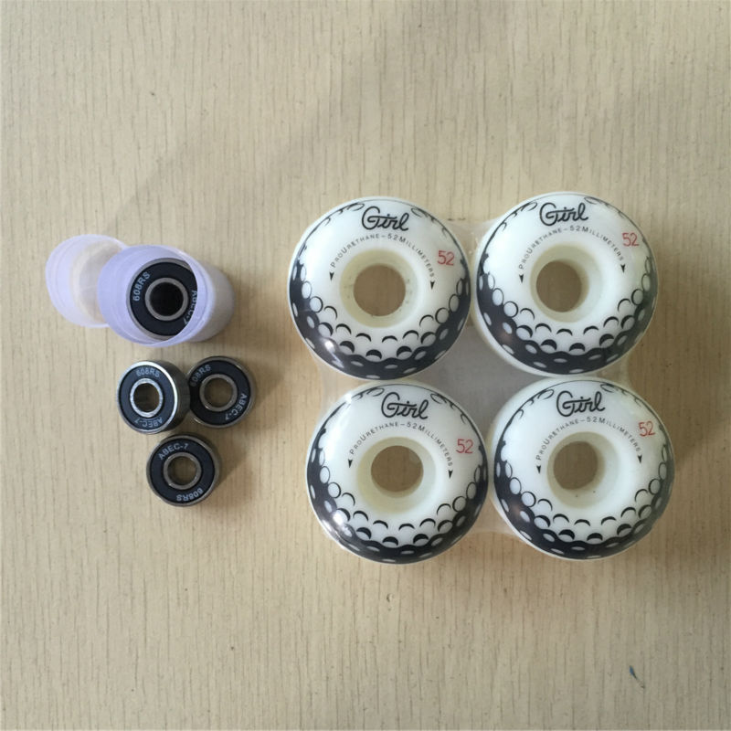 Quality ABEC-7 Skateboarding Bearing With Multi Models 51-54MM 100a &101a Skate Wheels For Street Skating