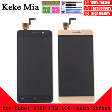 Keke Mia 5.0 New Original For Cubot Z100 P12 CellPhone LCD Display+Touch Screen Digitizer Assembly Replacement Glass Free Tools