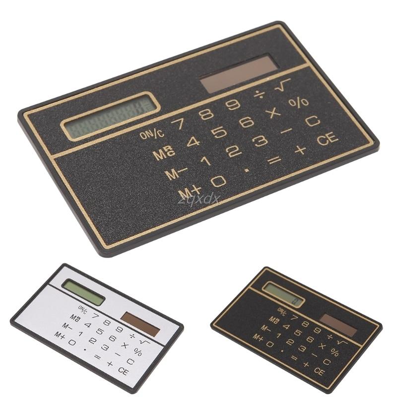 8-цифра солнечной энергии карманный калькулятор новый ультра тонкий мини кредитной карты калькулятор Z17 Прямая поставка