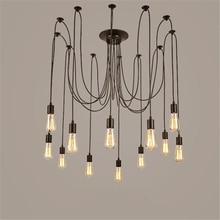 Creative big Spider black Pendant Lamp Vintage Loft Industrial Wind E27 Multi-head pendant light for living room restaurants bar