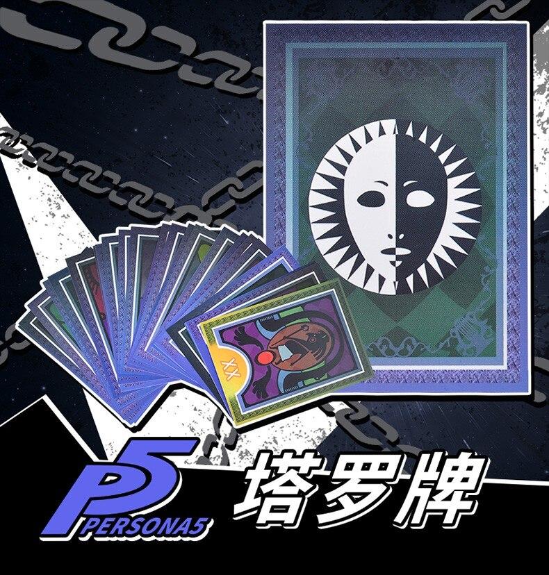 Jogos anime persona 5 cosplay adereços tarô cartão 23 cartões diferentes cos acessórios meninos meninas dia das crianças dia das bruxas brinquedos presente