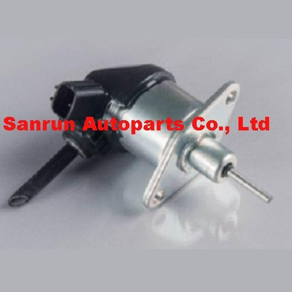 Fuel Shut Off Solenoid Valve 1G772-60014, 1G772-60012 12V forTractor fuel shut off solenoid valve coil 3964624 fits excavator engine