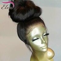 Шелк база Синтетические волосы на кружеве натуральные волосы парики бразильский прямой Синтетические волосы на кружеве парик 150% Плотность