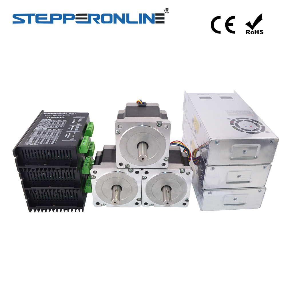 Kit Router CNC eixo 3 4.5Nm (637oz. in) 34 Nema Stepper Motor & Driver