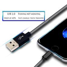 USB Phone Cable Charger for iphone Lightning Cable Fast USB Charging for iPad iOS Data Charging Alloy Nylon 2A Line pofan p11 lightning charging data cable line silver