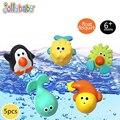5 pçs/set Jollybaby Brinquedos Educação Ferramenta de Pulverização de Água Do Banho Do Bebê PVC Macio Brinquedos Do Banho Do Bebê de Plástico Para Brinquedos do Bebê Recém-nascido # E