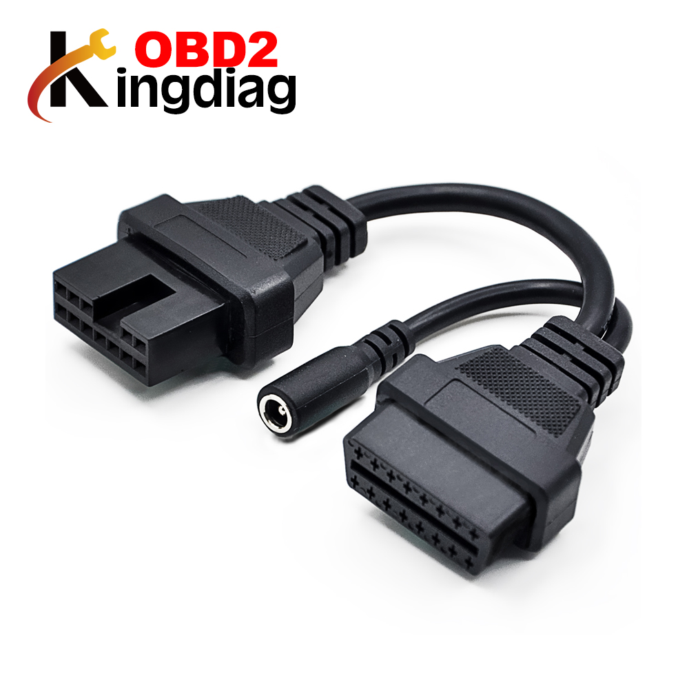 OBD2 cable for Mitsubishi 12 Pin To 16 Pin Female OBD 2 Extension Diagnostic Tool Adapter Connector Cable free shipping