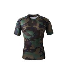 Wholesale-men compression tights base layer skin running Fitness Excercise soccer football shirts underwear jersey camouflage