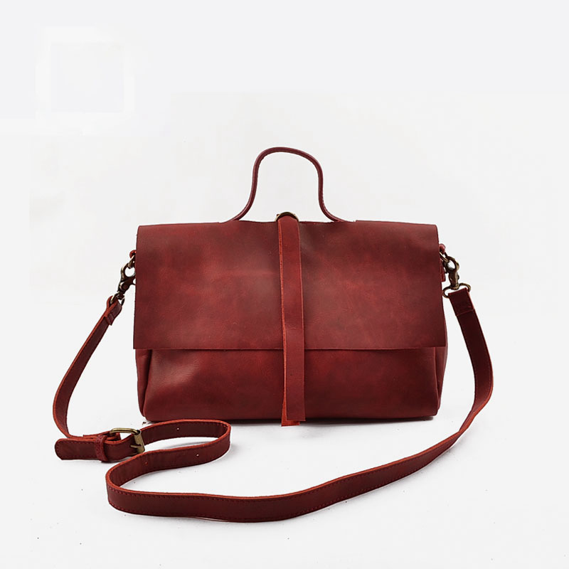 Vendange original new retro literary leather bags leisure fresh cowleather shoulder bag/ handbag 2304 vendange original handmade simple leisure female genuine cowleather knapsack multifunctional knapsack2305