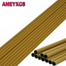 12/24Pcs 30 Spine 450 Archery Carbon Arrows Shaft Wooden Skin DIY Tools ID 6.2mm Arrow Shafts For Hunting Shooting Accessories