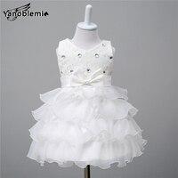 New Baby Girls Brand Wedding Dress Children Cute Flower Bow Sequin Print Dresses Kids Princess Costumes