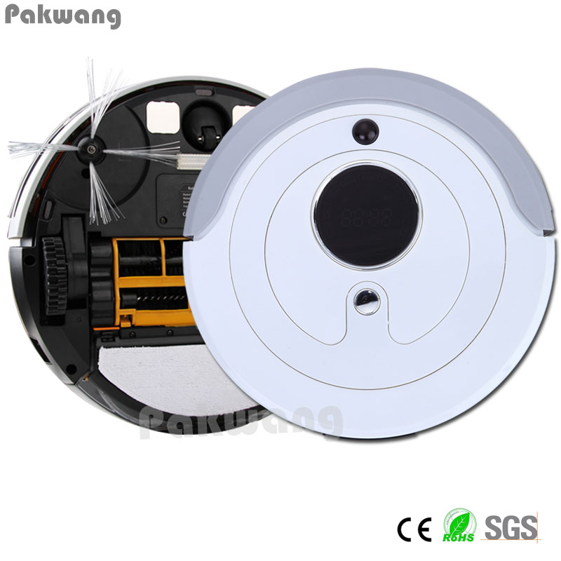 Household Cleaning Slim Automatic Charge Intelligent Robot Vacuum Cleaner A380 with 0.8L Dustbin Capacity Robotic Aspirador 2017 new gift with uv lamp remote control lcd display automatic vacuum cleaner iclebo arte robotic aspirador