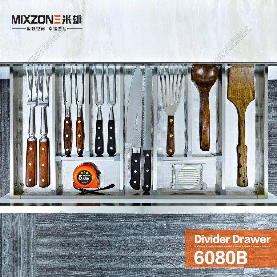 Kitchen Cabinet Cutlery Tray Utensil Divider Basket Drawer Organizer ...
