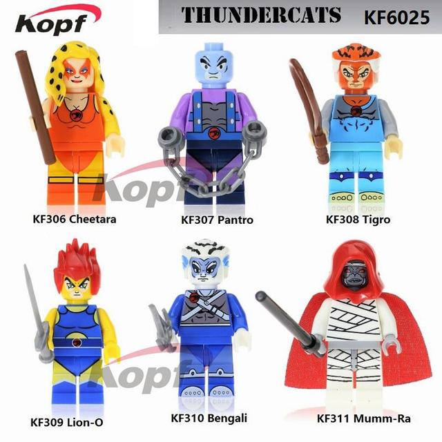 Single Sale Super Heroes American TV Movie Thundercats Cheetara Pantro  Tigro Lion-O Bengali Building Blocks Children Toys KF6025 a1fd45cf88da