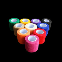 Tattoo Accessories 6Pcs Disposable Self-adhesive Elastic Bandage 10 Colors For Handle Grip Tube 5cm Max Stretch Length
