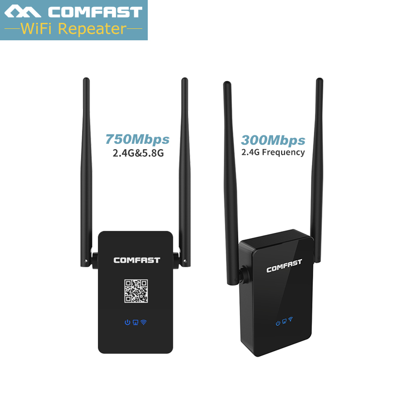 Wireless Dual Band Wifi Roteador 2.4G/5Ghz Wi-fi Repeater 750Mbps Wifi Extender 300Mbps 802.11b/g/n/ac Mi Wi fi Mini Router