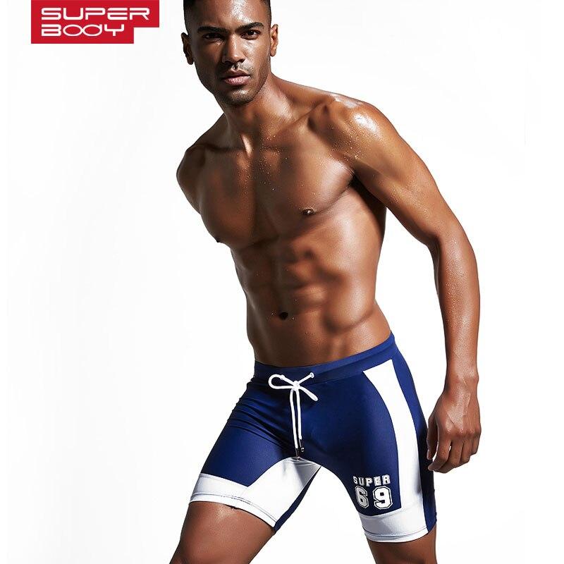 Erkek mayo spor uzun Yüzmek gövde kısa plaj cebi ile erkek boxer - Spor Giyim ve Aksesuar - Fotoğraf 3