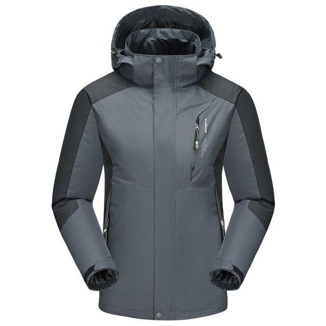 Patchwork Windbreaker Jacket Men 2017 Waterproof Coat Nylon Overcoat Camp  Softshell Outdoors Wind Breaker Outwear Hood
