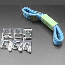 1 Set 3/4/6mm Crimping Edge Sewing Machine foot and Ruler Suits Home DIY Tools Metal Household Accessories