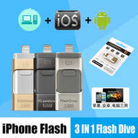 Flash USB iPhone X/8/7/7 Plus/6/6 s/5/ipad OTG Stift Stick HD tarjeta de memoria 8 GB 16 GB 32 GB 64 GB 128 GB stick usb 3,0