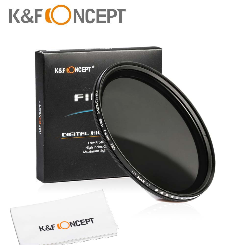 43mm Neutral Density Fader Variable ND2 ND4 ND8 To ND400 Adjustable ND Lens Filter For Canon Nikon Sony Fuji Samsung Lens