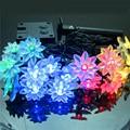 Водяная лилия Цветок Солнечные Огни строки 5 М 20 LED Свет Рождества Открытый Сад Главная Свадебная Вечеринка Белый Теплый белый RGB